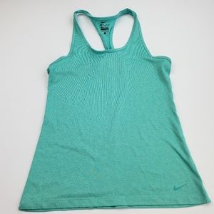 Nike Dry Fit Womans Racer Back Size Small Green SZ